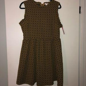 Target Yellow/Black Tweed Dress